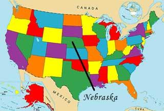 USA Geography Quizzes Fun Map Games - Nebraska usa map